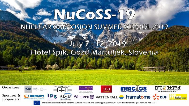 Nuclear Corrosion Summer School – NuCoSS-19